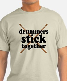 Funny Drummers Stick Together T-Shirt