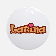 Latina  Ornament (Round)