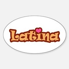 Latina Oval Decal