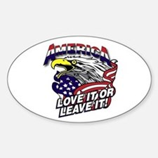 America - Love It or Leave It Decal