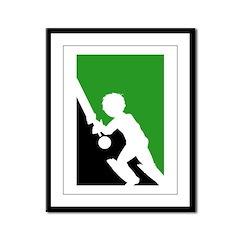 Cricket Batsman Framed Print (Small)
