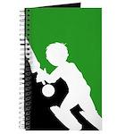 Cricket Batsman Silhouette Journal