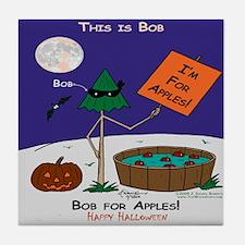 Bob For Apples Tile Coaster
