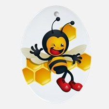 Bumble Bee Ornament (Oval)