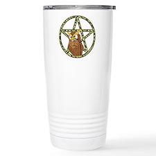 vines Pentagram Owl Travel Mug