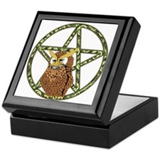vines Pentagram Owl Keepsake Box