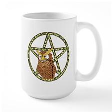 vines Pentagram Owl Mug
