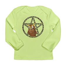 vines Pentagram Owl Long Sleeve Infant T-Shirt