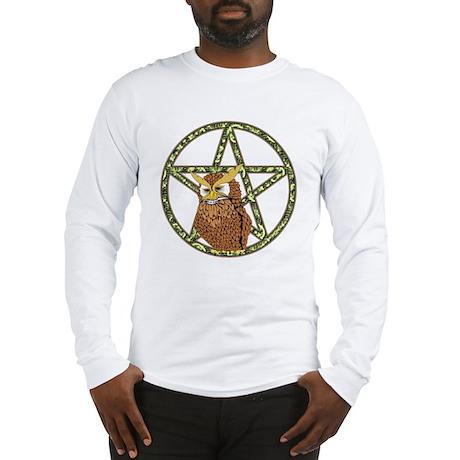 vines Pentagram Owl Long Sleeve T-Shirt