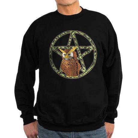 vines Pentagram Owl Sweatshirt (dark)