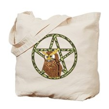 vines Pentagram Owl Tote Bag