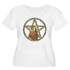 vines Pentagram Owl T-Shirt