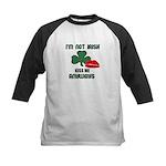 I'M NOT IRISH KISS ME ANYWAYS Kids Baseball Jersey
