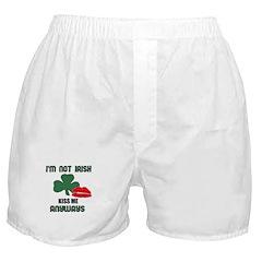 I'M NOT IRISH KISS ME ANYWAYS Boxer Shorts