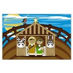Cute Mary and Joseph Nativity Poster (Large)
