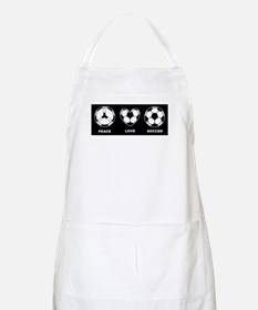 Peace Love Soccer Apron