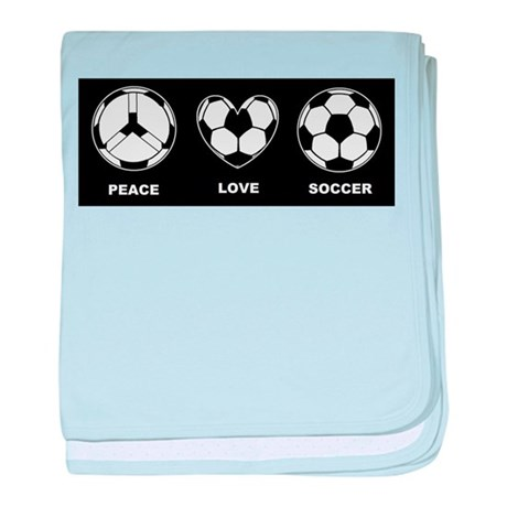 Peace Love Soccer Infant Blanket