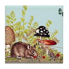 Woodland Mouse Tile Coaster