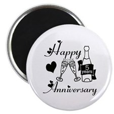 Anniversary black and white 5 Magnets
