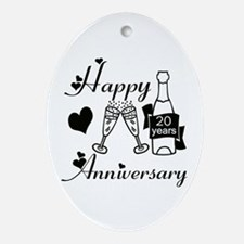Wedding anniversaries Oval Ornament