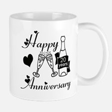 Anniversary black and white 20 Mugs