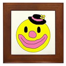 Happy Clown Framed Tile