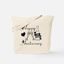 Unique 25th wedding anniversary Tote Bag