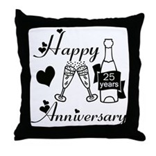 Unique Anniversary 25 Throw Pillow