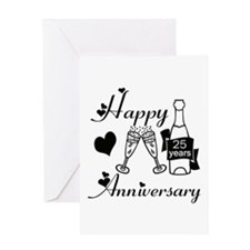 Funny 25 anniversary Greeting Card