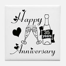 Cool Wedding anniversaries Tile Coaster