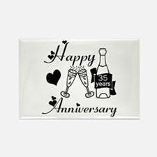 Wedding anniversary party Rectangle Magnet
