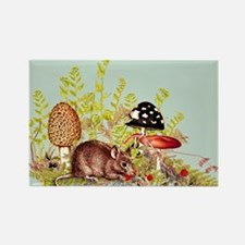 Woodland Mouse Rectangle Magnet