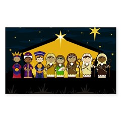 Adorably Cute Nativity Decal