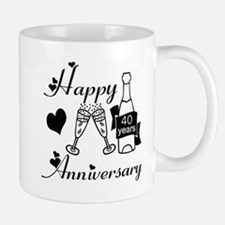 Anniversary black and white 40 Mugs
