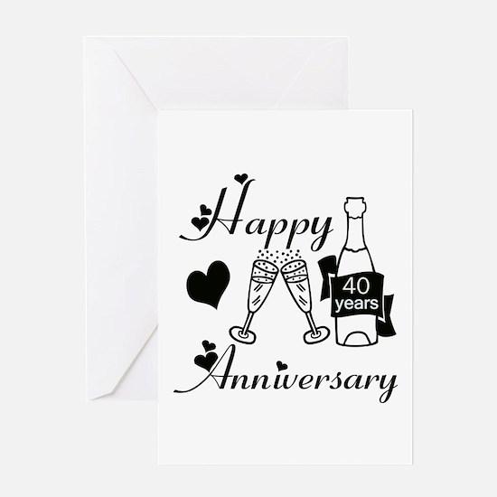 Cool 40th wedding anniversary Greeting Card