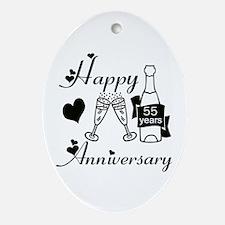 Funny Wedding anniversaries Oval Ornament