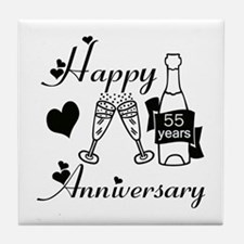 Cool Wedding anniversary party Tile Coaster