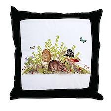 Woodland Mouse Throw Pillow