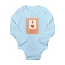 i heart ebooks Long Sleeve Infant Bodysuit
