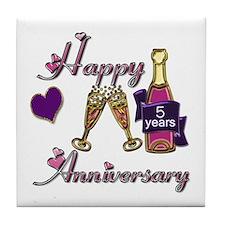 Cool Wedding anniversary favors Tile Coaster