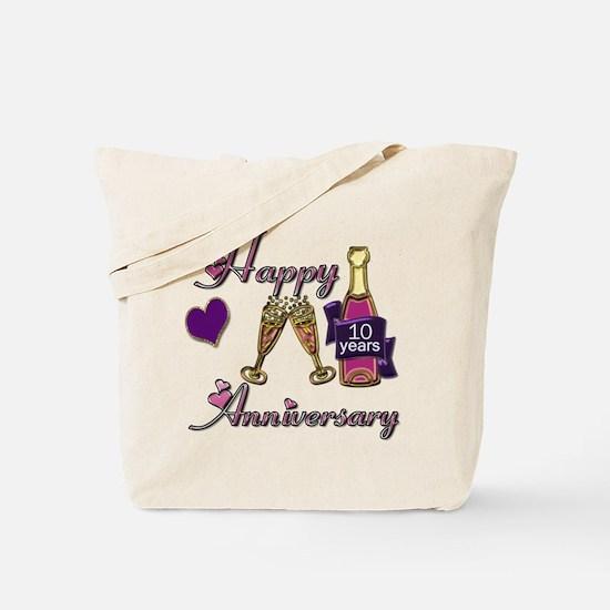 Unique Tenth wedding anniversary Tote Bag