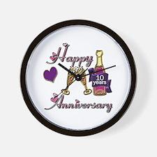 Unique 10th wedding anniversary Wall Clock