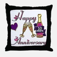 Cute 10th anniversary Throw Pillow