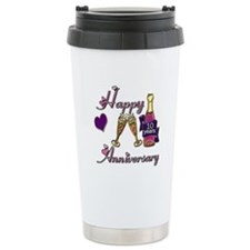 Unique 10th wedding anniversary Travel Mug