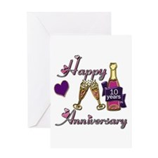 Cute Tenth wedding anniversary Greeting Card