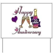 Cute Twentieth anniversary Yard Sign