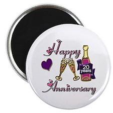 Twentieth anniversary Magnet