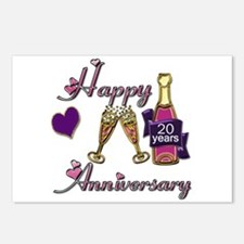 Wedding anniversary party Postcards (Package of 8)