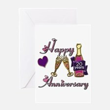Unique 20th wedding anniversary Greeting Card