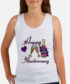 Anniversary pink and purple 25 Tank Top